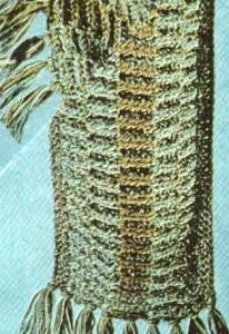 шарф на круглых спицах