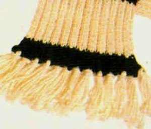 шарф с полос бахрома (2)