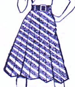 юбка восьмиклинка
