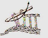 вязать столбики с вытянутыми петлями