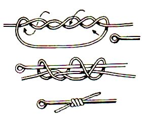 как науч вязать рыбацкие узлы двойной восьмер