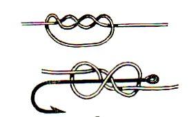 как науч вязать рыбацкие узлы прост восьмерочный