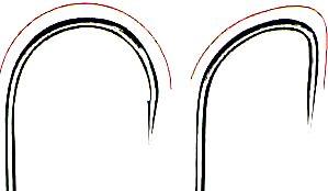 крючки -загиб