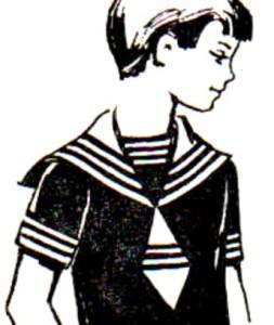 морской костюм шить воротник