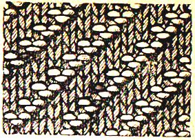 виды вязок на спиц косая резинка