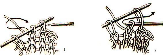 закрепление петель и вязание края 1,2