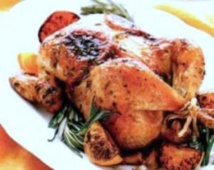 курица фаршированная в духовке1
