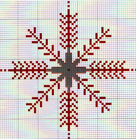 новогодние вышивки крестом перва я