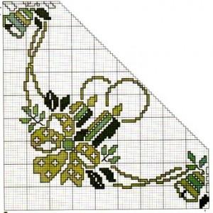 новогоднии вышивки крестом салфетка