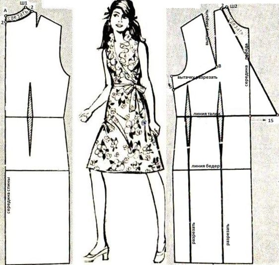 выкр отрезного платья  1