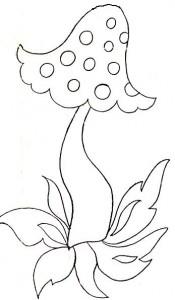 детские штанишки гриб