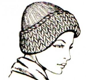 жен шапка с отворотом