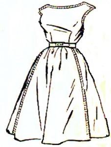 как сшить платье отрезн  расклеш юбкой (5)