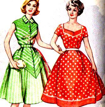 Выкройка отрезное платье по талии с пышной юбкой выкройка