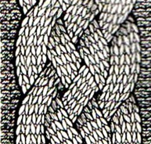 вязание на спицах коса из жгутов
