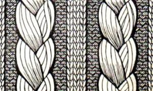 вязание на спицах коса и жгуты коса