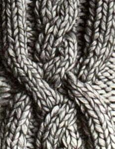 вязание на спиц коса и жгуты  из лиц петель 3