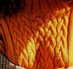 вязание на спиц коса и жгуты  перв