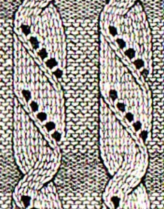 жгуты из лицевых петель