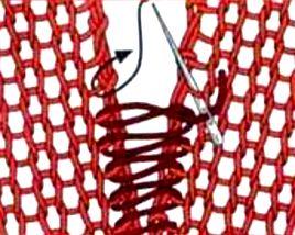 трикот шов вертикальный