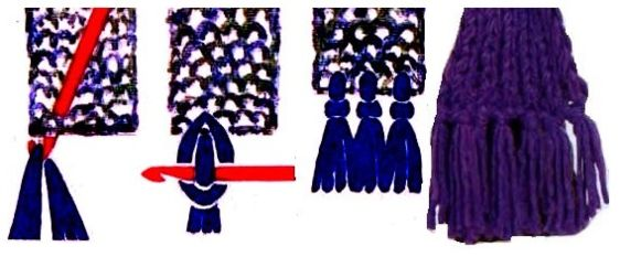 Как сделать петли на шарфе