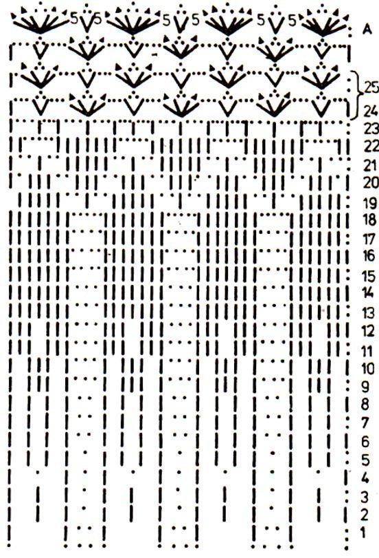 пелерина крючком, схема (2)
