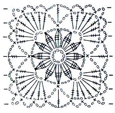 схема вязания квадр кр 3