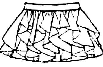 Юбка из вертикальных воланов выкройка