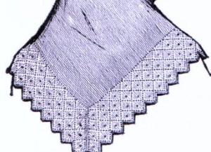 пуховый платок спицами