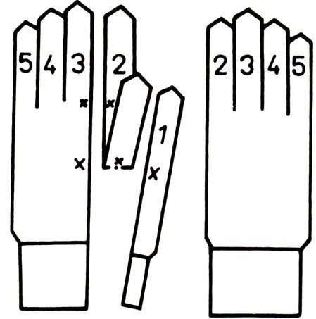 перчатки крюч размер