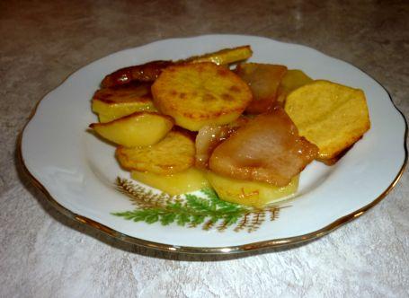 картошка жарен на сале перпер
