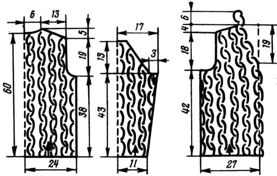 жакет ажурный крючком схема, выкройка (1)
